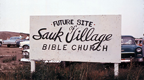 Future Site of Sauk Village Bible Church sign