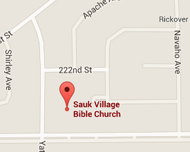 Google map of Sauk Village Bible Church